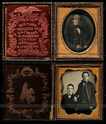 Rare  1/6 Daguerreotypes of Military Officers / Soldiers
