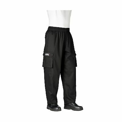 Chefwear Cargo Cotton Chef Pants Black Small