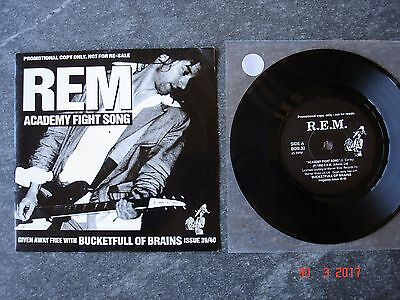 """DISCO 45 giri REM / THE COAL PORTERS """"Academy Fight Song"""" 1992 PROMOTIONAL COPY"""