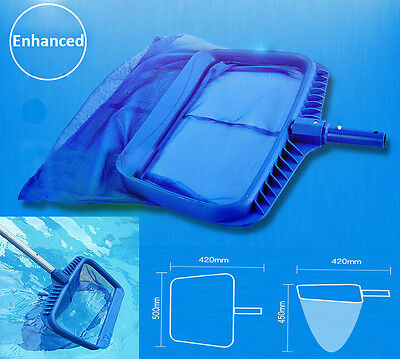 New Swimmming Pool Clean Leaf Skimmer Rake Net Duty Leaves Bag Durable Deep