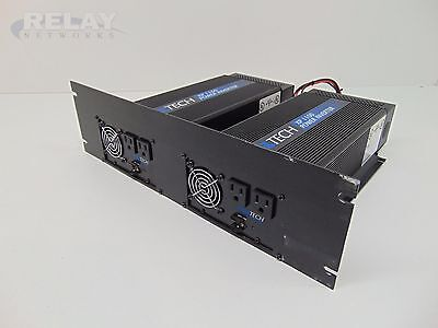 2 Exeltech XP1100 Power Inverters with Face Plate  XPK-1461  48V DC