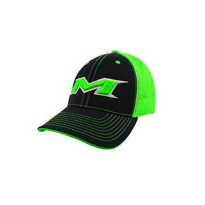 Miken Hat by Pacific (404M) BLACK/NEON GREEN/BLK/WHT/NEON GRN SM/MD (6 7/8-7 3/8