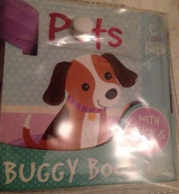 0-12 M Buggy Baby Book With Touch & Feel - Pets RRP £5.99