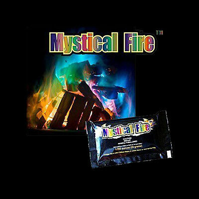 10x Mystical Fire Powder Sachets - Vibrant Colour in Your Wood Fire Pit BBQ