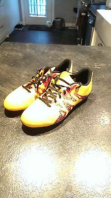 junior kids soccer shoes size 5y adidas X 15.4 FG Kids' Outdoor Soccer Cleats
