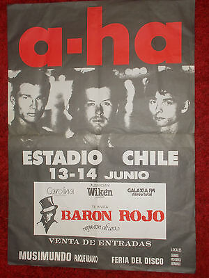 A-Ha Concert Poster From South America Estadio Chile
