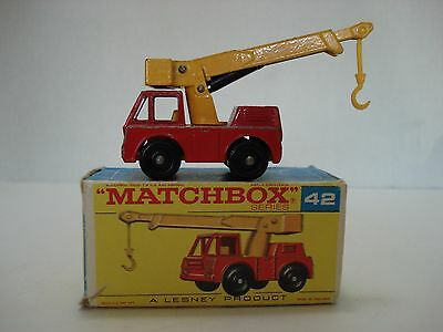 Matchbox Iron Fairy Crane # 42-C With Box  Made In England 1969