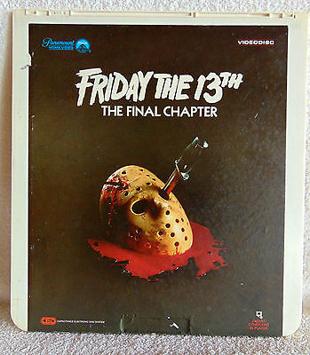 CED - Friday the 13th Part The Final Chapter Videodisc Paramount Selectavision