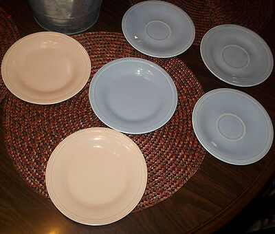Set of 4 Edwin M. Knowles China Co. Saucers & Bread & Butter Plates/No chips
