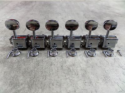 Guitar Tuners Machine Heads Vintage style x 6 Inline 8mm for Strat / Tele 6R