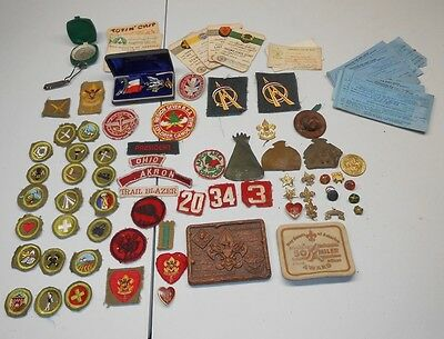 Huge LOT of Vintage 1940's 1950's Boy Eagle Scouts PATCHES EMBLEM PINS Medal 8E
