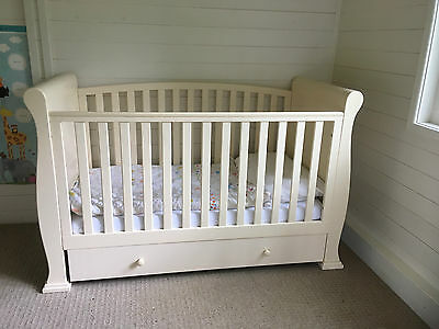 Cot Bed Daybed With Mattress and  Bedding Bundle + Stairgate