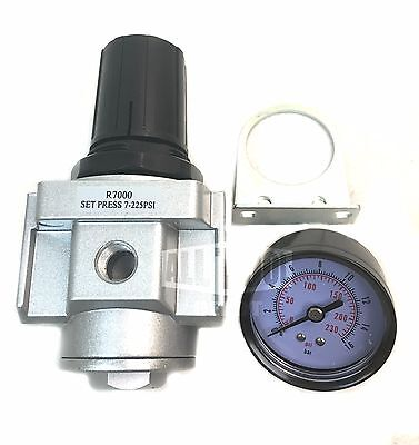 "1/2"" Air Compressor Regulator with Free 300 PSI Pressure Gauge"