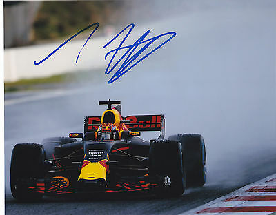 Max Verstappen Signed Autographed F1 Racing 2017 Red Bull 8X10 Photo  Proof