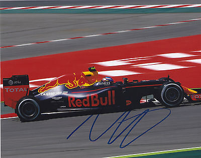 Max Verstappen Signed Autographed F1 Racing Red Bull 8X10 Photo Exact Proof
