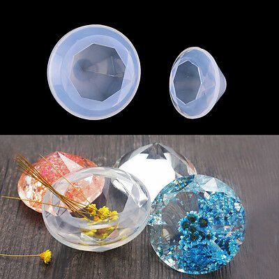Diamond Shape Silicone Mould Resin Pendant Jewelry Making Mold DIY Craft Tool FO