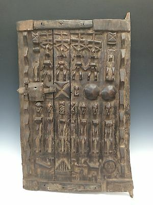 Tribal Art, African Art Dogon Granary Door From Mali