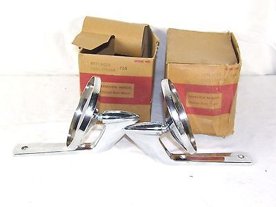 2 Vintage 1960's Ford Falcon Fairlane NOS Rear Side View Mirror Fits C2OZ-17696A