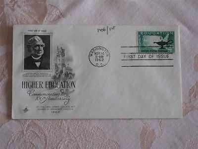 1962 First Day Of Issue Envelope, Higher Education, 100Th Anniv. Justin Morrill