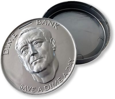 Franklin D. Roosevelt Coin/Change/Saving Presidential Dime Bank, Made in the USA