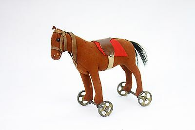 Antique Steiff Small Horse Pull Toy ca1910