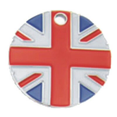 * Dog or Cat ID Tag Union Jack 25mm, with Split Ring FREE ENGRAVING