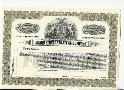 Edison Storage Battery Company 191x, Preferred, reserve stock