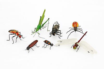 Vintage set of Metal Wire Paper Mache Bugs Insects ca1950