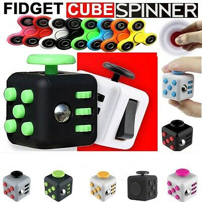 Fiddle Fidget Cube Spinner Children Kids Finger Desk Toy Stress Relief ADHD 3D