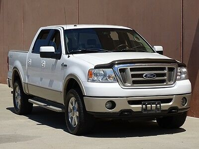 2007 Ford F-150 King Ranch Crew Cab Pickup 4-Door 2007 FORD F150 KING RANCH CREW CAB 4X4 ACCIDENT FREE TX TRUCK CARFAX CERTIFIED!!