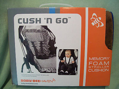 Baby-BeeHaven cush n' Go Memory Foam Stroller Cushion Liner, Chocolate Cars