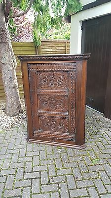 Very Rare Early 17th Century Large Corner Cabinet Dated 1608