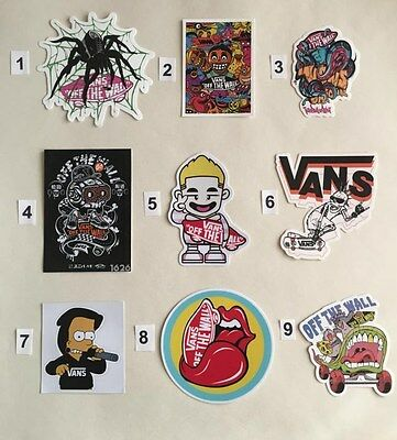 Skateboard Stickers VANS  PRICE FOR ONE STICKERS TO CHOOSE