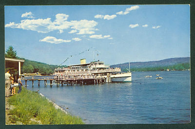 MV SHIP Mt. Washington ALTON BAY NEW HAMPSHIRE Lake Winnipesaukee Postcard