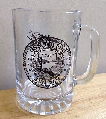One (1) Uss Toledo Ssn-769 U. S. Navy Submarine Glass Coffee Mug