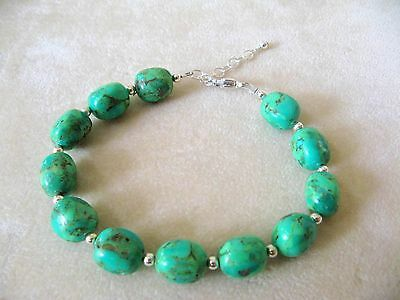 New Barse Bracelet, Genuine Lime Turquoise,  It's MSRP is $56