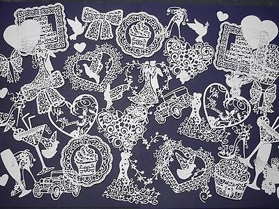 Large amount Wedding die cuts, Tattered Lace,Cheery Lynn, Memory Box & more