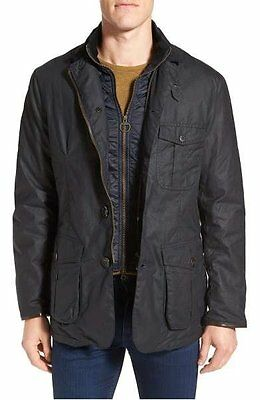 NEW Barbour Men's Torridon Wax Jacket Navy Size Large $479