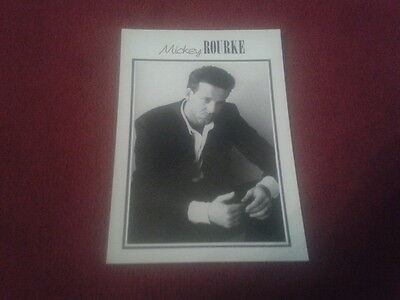 Carte Postale / Postcard Vintage Cinema Acteur Mickey Rourke (New Line 147)