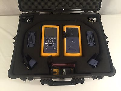 Fluke Networks DSP-4300 Cable Analyzer / Remote / Accessories / Good Condition!