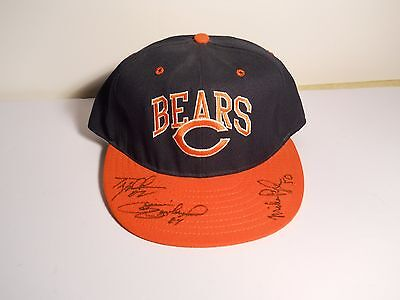 Mike Pyle #50 1961-1969 Chicago Bears Autographed Cap With 2 Other Sig's