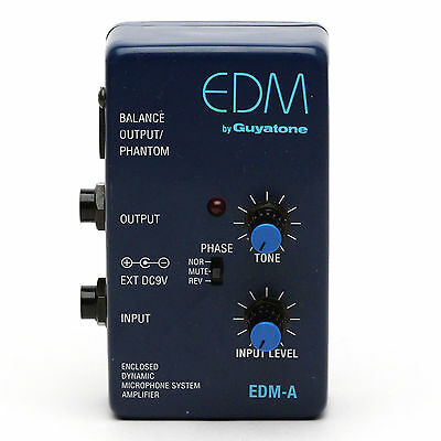 Guyatone EDM - WORLDWIDE SHIPPING - Enclosed Dynamic Preamp Acoustic Amplifier