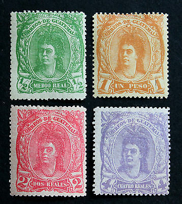 Stamp Guatemala Sc# 11-14 MH Mint Hinged 1878 Indian Woman