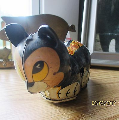 1930's MARX DISNEY TIN LITHO Figaro Wind Up Cat Pinocchio, WORKING & CLEAN