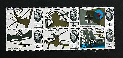 Great Britain Stamps Sc# 430-435 MNH Block of 6