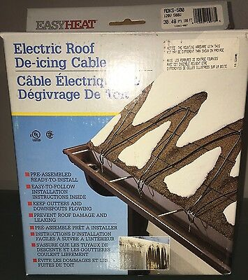Easy Heat Electric Roof & Gutter De-icing Cable ADKS-500 100 Feet Of Cable