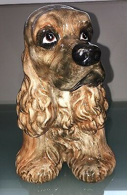 Ceramic Cocker Spaniel Made In Italy Limited Edition 19 / 7483 By C.S.M