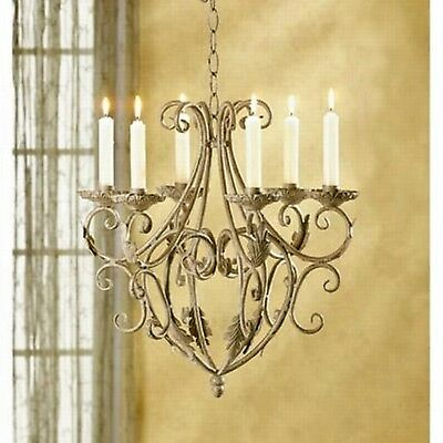Antique Wrought Iron Chandelier Home Decor Vintage Interior Gothic Candle Holder