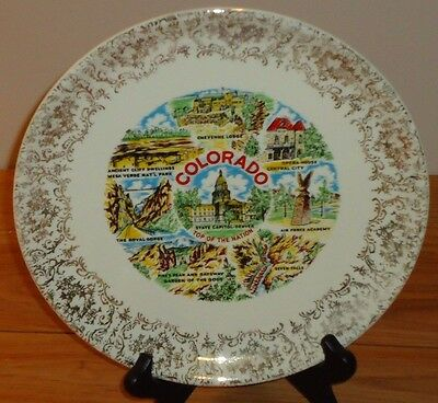 """COLORADO Top of the Nation Souvenir 9"""" State Collector's Plate"""