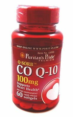 Coenzyme Q10 Q-SORB  CO Q-10 100 mg 60 Softgels Heart Health